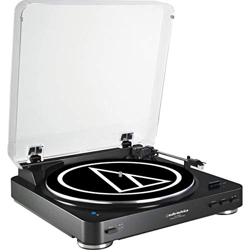 Audio-Technica AT-LP60BK-BT Fully Automatic Wireless Belt-Drive Stereo Turntable (Bluetooth & Analog), Black