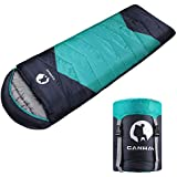 CANWAY Sleeping Bag with Compression Sack, Lightweight and Waterproof for Warm & Cold Weather, Comfort for 4 Seasons Camping/Traveling/Hiking/Backpacking, Adults & Kids