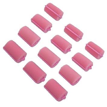 eDealMax DE 12 piezas de herramientas rodillo de esponja señoras de Estilismo Cuidado, Rosa,