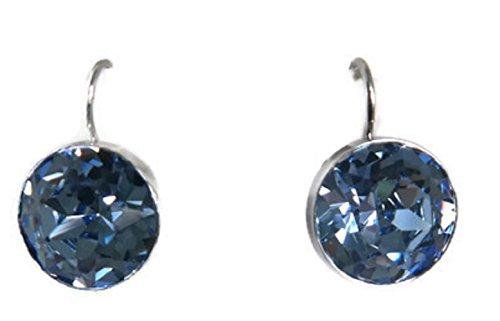 Swarovski Earrings Bella Pierced (Swarovski Crystal Light Sapphire Bella Pierced Earrings)