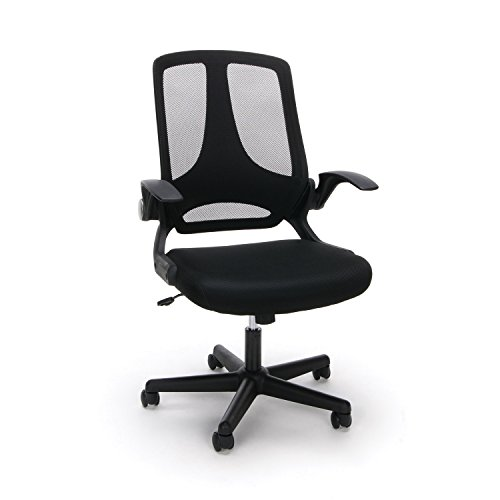 Essentials Mesh Upholstered Flip-Arm Task Chair - Ergonomic Computer/Office Chair (ESS-3045) by OFM