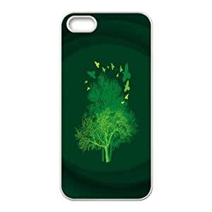 IPhone 5,5S Cases Trees, Case for Iphone 5s for Girls - [White] Okaycosama
