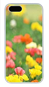 iPhone 5 5S Case Field of Poppies PC Custom iPhone 5 5S Case Cover White