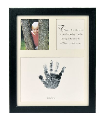 The Grandparent Gift Co. Baby Keepsakes Little Hands Handprint Frame, Black by The Grandparent Gift Co.