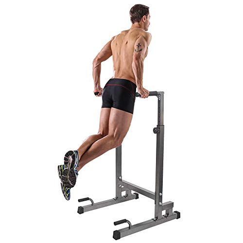 Dporticus Adjustable Heavy Duty Dip Stand Parallel Bar Bicep Triceps Home Gym Assembly Dipping Station Dip Bar Black by Dporticus