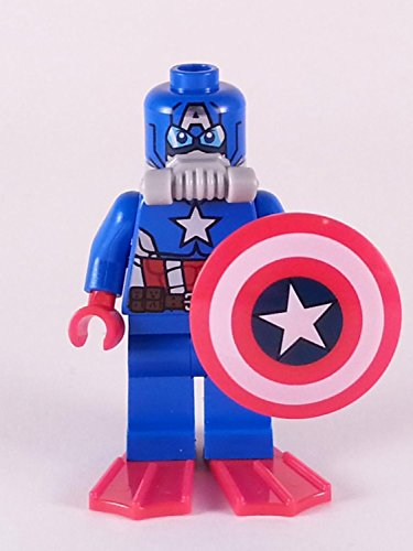 Lego 76048 Scuba Captain America Minifigure Loose New 2016 Super Heroes