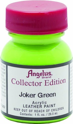 Angelus Brand Leather/ Vinyl Paint / Dye Waterproof Collector Edition 1 oz, Joker Green