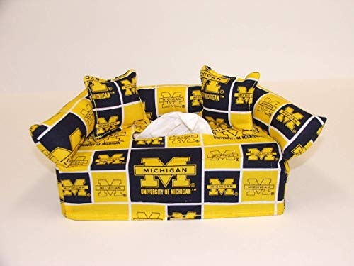 State Tissue Box Cover - University of Michigan Tissue Box cover. Includes Tissue