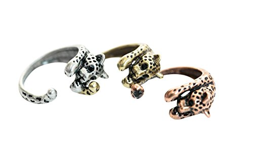 one fashion jewelry party beautiful bling cute simple brass for women teens girls friend her pretty baby toe adjustable midi first knuckle wrap around animal Open Cheetah leopoard tiger Ring