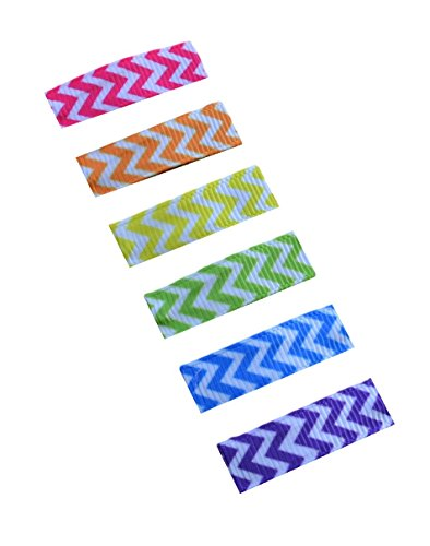 Hair Barrette No Slip Baby Snap Clip Set for Fine Wispy Hair By Funny Girl Designs (Chevron) (Chevron Flower Girl Basket)