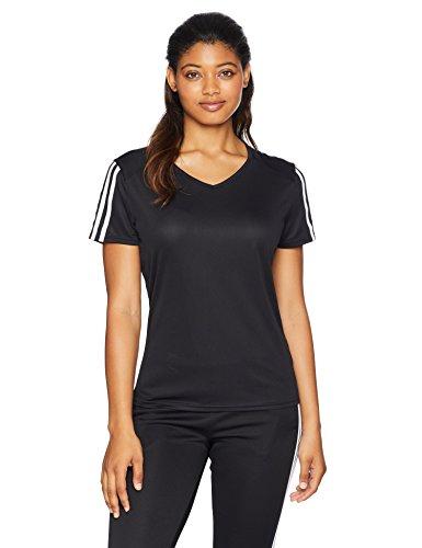 adidas 3-Stripes Run Tee, Black/White, Small