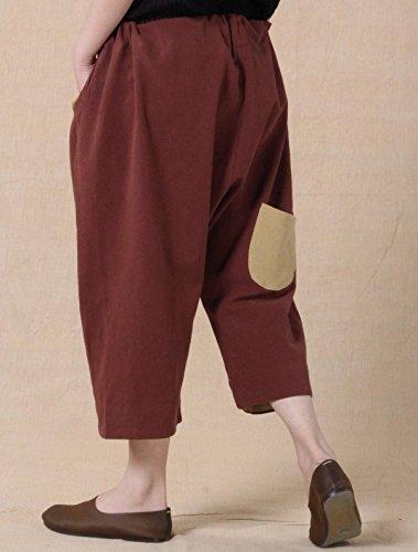 Voguees - Pantalón - relaxed - para mujer marrón