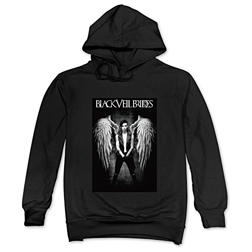 DF Men's Black Veil Brides Andy Angel Rock Band Hoodie Sweatshirt Black