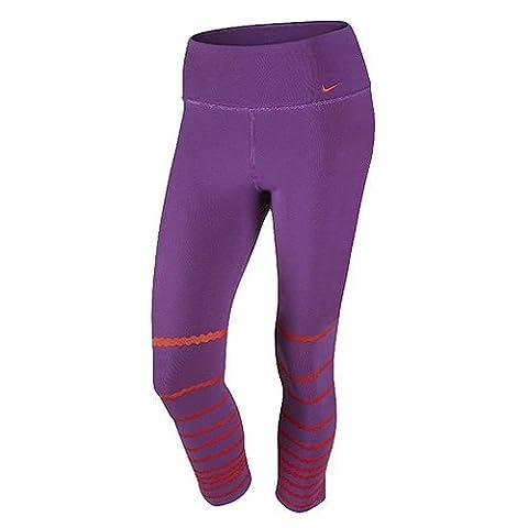 Nike Womens Dri-Fit Legend Training Capri Tights-Purple/Orange-Small