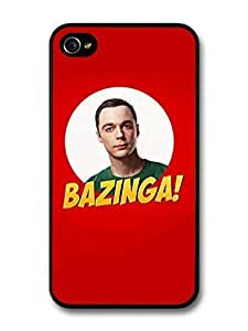 AMAF ? Accessories Big Bang Theory Bazinga Sheldon Cooper case for iPhone 4 4S