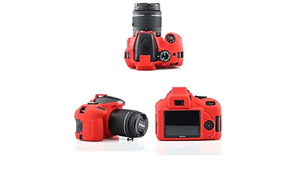 Funda de Silicona Carcasa de Silicona para cámara Nikon D3400 Rojo ...