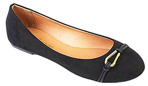 Shop Pretty Girl Scarpe Da Donna Casual Casual E Chic In Tela Piatta Con Cinturino Scarpa Staccabile Con Cinturino Alla Caviglia ... Nero Con Giallo
