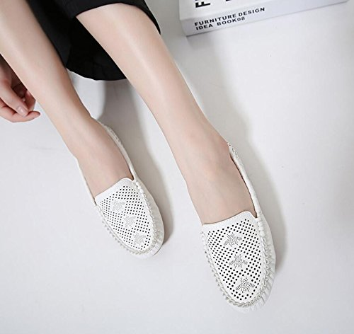 KHSKX-The White Egg Rolls Shoes Girl The New Large Numbers Of Pregnant Women Shoes Comfortable Shoes Work Shoes Flat-Bottomed Single Shoe That Shoes Mom Shoes 40 6XF9VzI