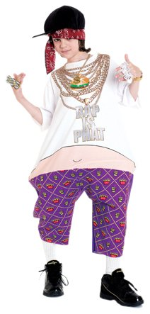 Paper Magic Group Phat Rapper Costume,One Size Fits Most