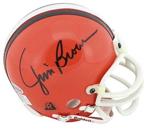Browns Jim Brown Authentic Signed Vintage Authentic Mini Helmet Autographed BAS ()