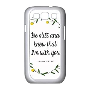 diycover Samsung Galaxy S3 I9300/I9308/I939 Case - Christian Theme - Psalm 46:10 - Best Durable Cover Case