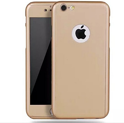 iPhone 6/6s Full Body Hard Case-Aurora Gold Front and Back Cover with Tempered Glass Screen Protector for iPhone 6/6s 4.7 Inch