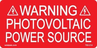 SW Labels Solar Warning Label 703-314 10 Pack