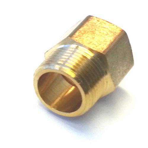 "Metric BSP G 1//2/"" Female to NPT 1//2/"" Male Pipe Fitting Brass Adapter Lead Free"