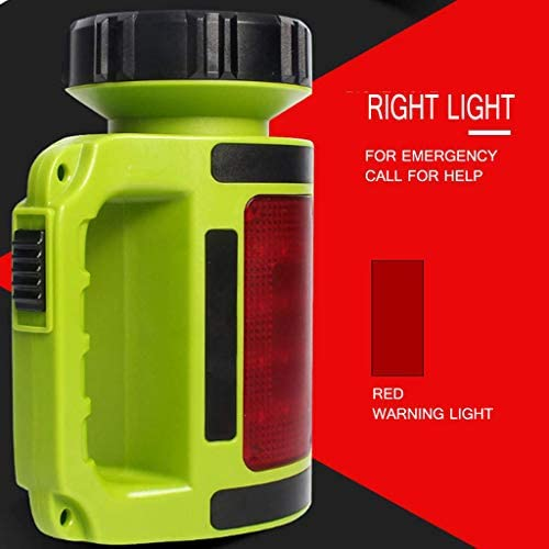 500LM LED Searchlight Lantern Camping Light Side Red Light + White Light 5 Lighting Modes Portable Flashlight Camping Light Rechargeable Waterproof Hunting Lamps