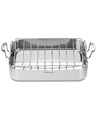 Cuisinart 16In Rectangular Roaster With Rack