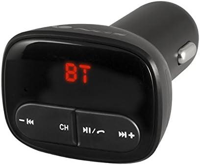 NGS SPARKBT 87.5-108MHz Bluetooth Negro - Transmisor FM (87,5-108 MHz, LED, Bluetooth, Encendedor de Cigarrillos, 12-24, 10 Pieza(s))