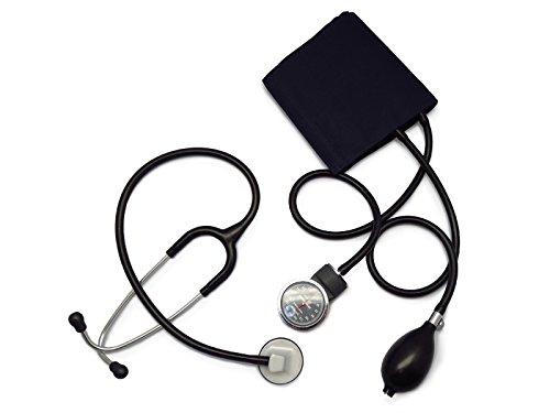 [セット]リットマン聴診器 セレクト(色お選び下さい)+アネロイド血圧計(ダークブルー) (ブラック 2290) B00SSLL0TI