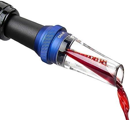 CHEER MODA Aireador de vino submarino, vertedor de accesorios de vino, decantador de vino tinto, boquilla de champán, el mejor regalo para amantes del vino y entusiastas, azul