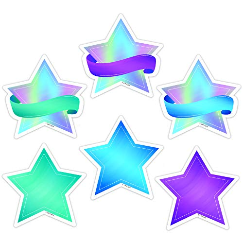 (Creative Teaching Press Mystical Magical Shimmering Stars Cut Outs, 3 in, CTP 8657)