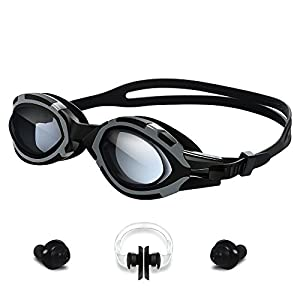 Swimming Goggles-YOKIRIN Leakproof Waterproof No Leaking Anti Fog UV Protection Triathlon Adjustable Swim Goggles with Free Protection Case for Adult Men Women Youth