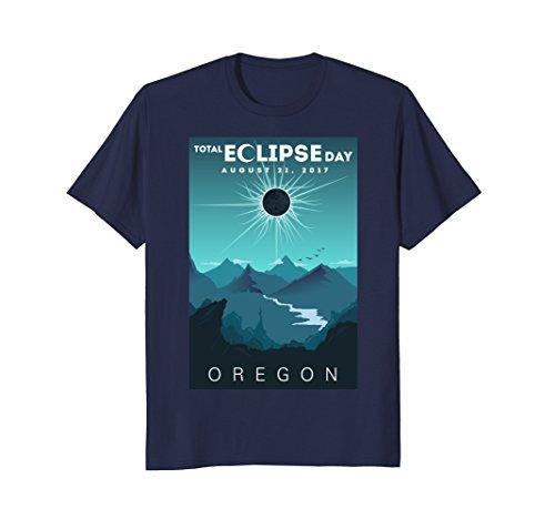 Mens Total Solar Eclipse Oregon 2017 T Shirt   Total Eclipse Tee 3Xl Navy