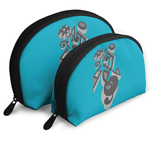 Child Goods On-a-musical-perspective Multi-Functional Portable Bags Clutch Pouch]()