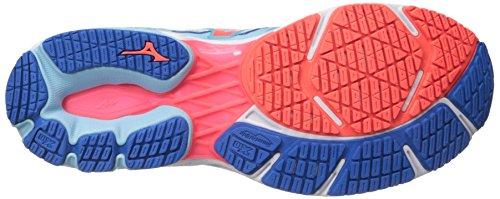 511xy2yUxzL Mizuno Running Women's Wave Shadow Shoes, Blue Topaz/Fiery Coral/Imperial Blue, 7.5 B US
