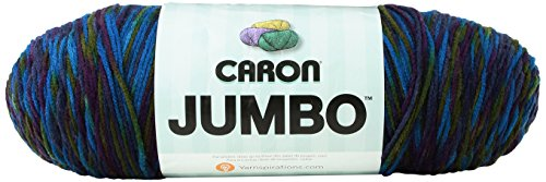 Caron Jumbo Prints Yarn, 12 Ounce, Peacock, Single Ball