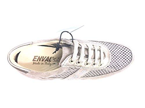 donna Enval Italy 7957 made pelle sneaker in BEIGE VISONE Scarpa soft wqPAtBgP7
