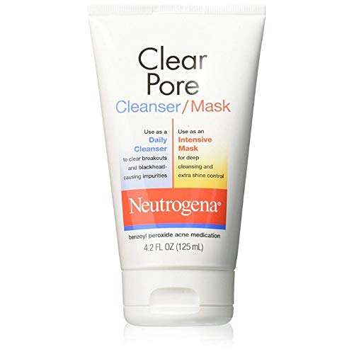 Neutrogena Clear Pore Cleanser/Mask 4.20 oz (Pack of 4)