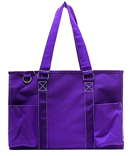 N Gil All Purpose Organizer Medium Utility Tote Bag (Solid Purple)]()