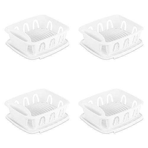 STERILITE 06368004 Small 2-Piece Sink Set, White, 4-Pack by STERILITE