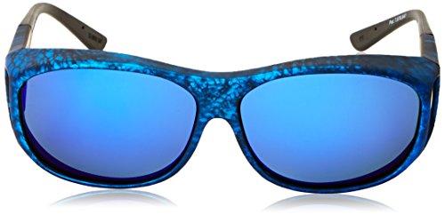 df30010b081d Cocoons Slim Line M Polarized Rectangular, Ink Frame & Gray Blue Mirror Lens,  63