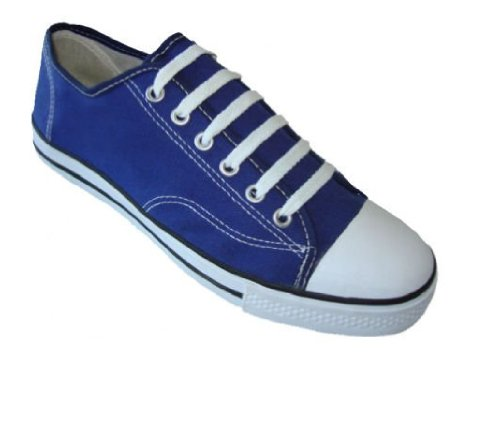 Heren Klassieke Canvas Veterschoenen Sneakers 4 Kleuren Verkrijgbaar Marine 327m