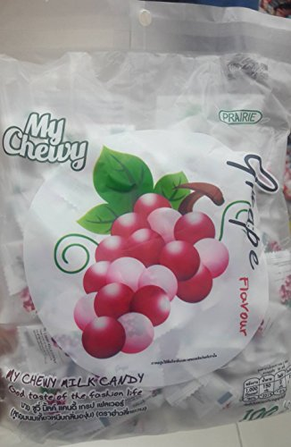Haoliyuan Grape Flavor Sweet Soft Chewy Milk Candy, 100 Pieces (13.4 oz)