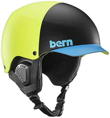 Bern Baker Snow Helmet (Matte Neon Yellow Hatstyle with Black Liner, (Bern Baker Matte)