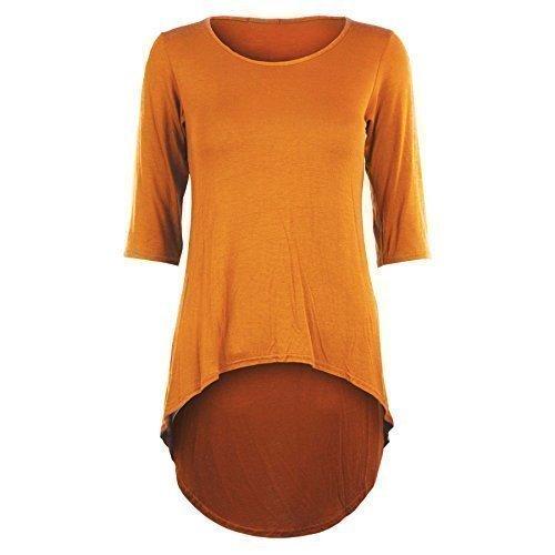 Oops Outlet - Mini robe moulante à ourlet plongeant et manches 3/4 - 48-50, Orange néon