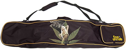 Fox & Shrub - Mary Jane Marijuana Weed Snowboard and Boot Bag - Best Sport Padded Carry Cover Case for Air Travel - For Youth Womens & Guys - Latest Board Flight Boot Compartment Design - Prime (Prime Snowboard Boot)