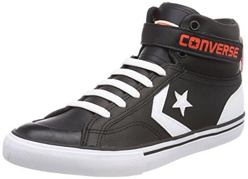 Converse Pro Blaze Strap Hi, Zapatillas Altas Unisex Niños Schwarz (Black/White/Bright Poppy)